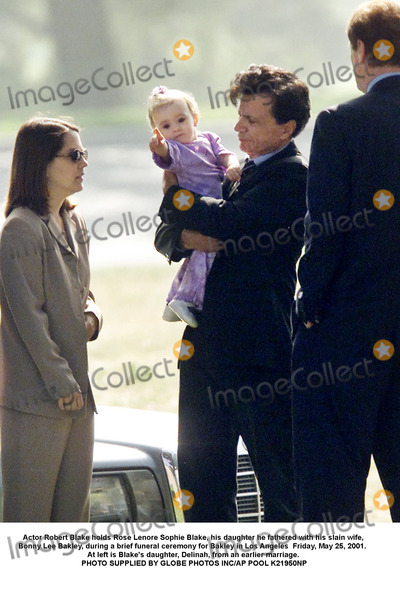 Sophie Blake Photo - Actor Robert Blake holds Rose Lenore Sophie Blake his daughter he fathered with his slain wife Bonny Lee Bakley during a brief funeral ceremony for Bakley in Los Angeles  Friday May 25 2001  At left is Blakes daughter Delinah from an earlier marriage PHOTO SUPPLIED BY GLOBE PHOTOS INCAP POOL K21950NP