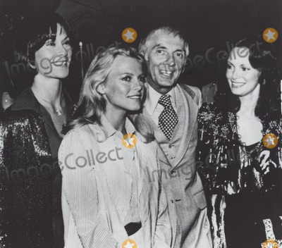 Aaron Spelling Photo - Charlies Angels Kate Jackson with Jaclyn Smith  Cheryl Ladd and Aaron Spelling at a Premiere Party of the Users at Mgm Studios 1978 Supplied by Globe Photos Inc