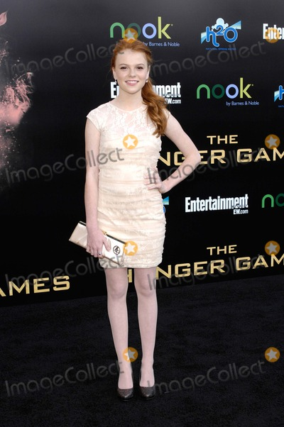 Annie Thurman Photo - Annie Thurman During the Premiere of the New Movie From Lionsgate the Hunger Games Held at the Nokia Theater LA Live on March 12 2012 in Los Angeles Photo Michael Germana  Superstar Images - Globe Photos