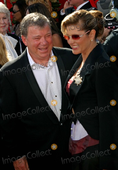William Shatner Photo - 56th Annual Primetime Emmy Awards Arrivals at the Shrine Auditorium in Los Angeles California 09192004 Photo by Ed GelleregiGlobe Photos Inc2004 William Shatner and His Wife