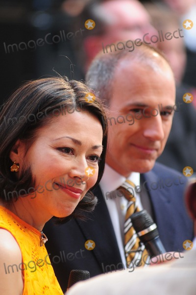 Ann Curry Photo - Kenny Chesney Rockefeller Center ny 06-22-2012 Photo by - Ken Babolcsay IpolGlobe Photos 2012 Ann Curry Matt Lauer