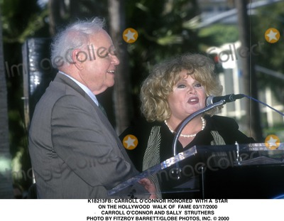 Carroll OConnor Photo -  Carroll Oconnor Honored with a Star on the Hollywood Walk of Fame 03172000 Carroll Oconnor and Sally Struthers Photo by Fitzroy BarrettGlobe Photos Inc