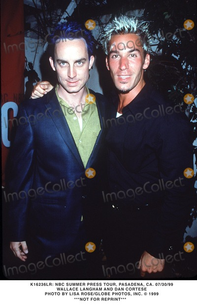 Dan Cortese Photo - 073099 NBC Summer Press Tour Pasadena CA Wallace Langham and Dan Cortese Photo by Lisa RoseGlobe Photos Inc 1999 Not For Reprint