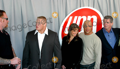 Stephanie McMahon Photo - Undertaker Brock Lesner Stephanie Mcmahon Kurt Angle and Vince Mcmahon K30680rm 2003-2004 Upn Upfront Presentation at Madison Square Garden in New York City 5152003 Photo Byrick MacklerrangefinderGlobe Photos Inc