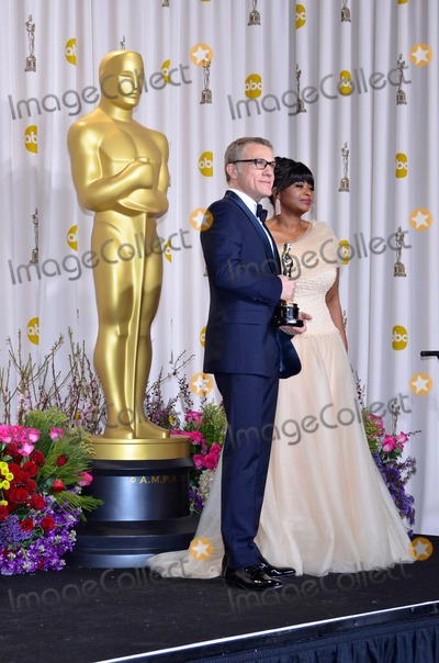 Octavia Spencer Photo - Christoph Waltz and Presenter Octavia Spencer Winner Best Actor in a Supporting Role 85th Academy Awards  Oscars Dolby Theatre Hollywood CA February 24 2013 Roger Harvey Photo by Roger Harvey- Globe Photos Inc