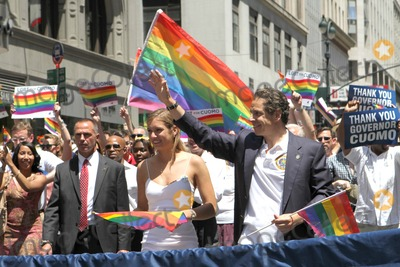 Andrew cuomo picture pride parade nyc 2014 walks down fifth ave as