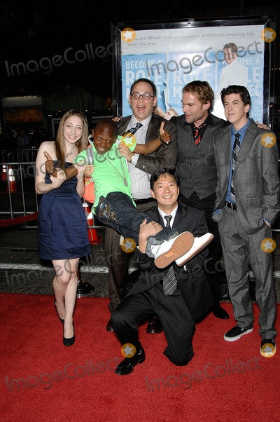 ALLIE STAMLER Photo - Allie Stamler Bobbe J Thompson David Walin Ken Jeong Seann William Scott and Christopher Mintz-Platz during the premiere of the new movie from Universal Pictures ROLE MODELS held at the Mann Village Theatre on October 22 2008 in Los AngelesPhoto Michael Germana - Globe PhotosK60050MGE