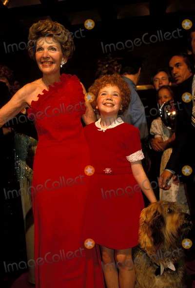 Aileen Quinn Photo - Nancy Reagan and Aileen Quinn Photo by Adam ScullGlobe Photos Nancyreaganretro