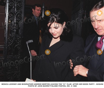 Andrew Morton Photo - 0599 Monica Lewinsky and Biographer Andrew Morton Leaving the 21 Club After Her Book Party Photo by John BarrettGlobe Photos Inc