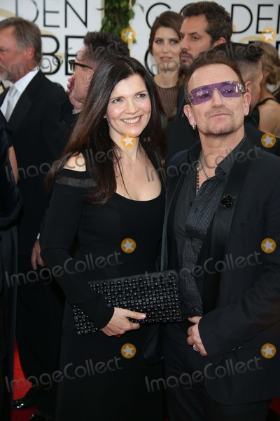 Ali Hewson Photo - Bono and Wife Ali Hewson Attend the 71st Annual Golden Globe Awards Aka Golden Globes at Hotel Beverly Hilton in Los Angeles USA on 12 January 2014 Photo Alec Michael-Globe Photos Inc