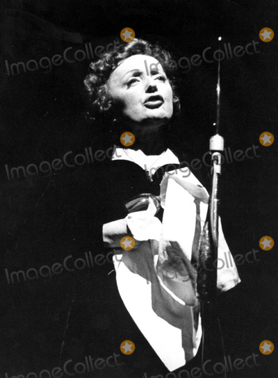 Edith Piaf Photo - Edith Piaf Photo by Roger JallyGlobe Photos Inc