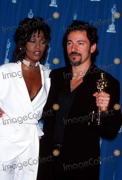 Bruce Springsteen Photo - Whitneyhoustonretro L7831mf Sd032194 66th Annual Academy Awards Whitney Houston_bruce Springsteen Photo by Michael FergusonGlobe Photosinc
