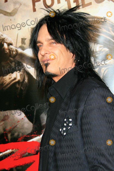 Nikki Sixx Photo - The Premiere of 300 - Mann Chinese Theater Hollywood California - 03-05-2007 - Photo by Nina PrommerGlobe Photos Inc 2007