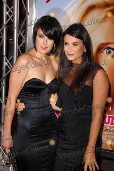 Demi Moore Photo - Rumer Willis  Demi Moore Actress  Daughter the Los Angeles Premiere of the House Bunnys Held at Mann Village Theaterwestwood California 08-20-2008 Photo by Graham Whitby Boot-allstar-Globe Photos Inc2008 K59166