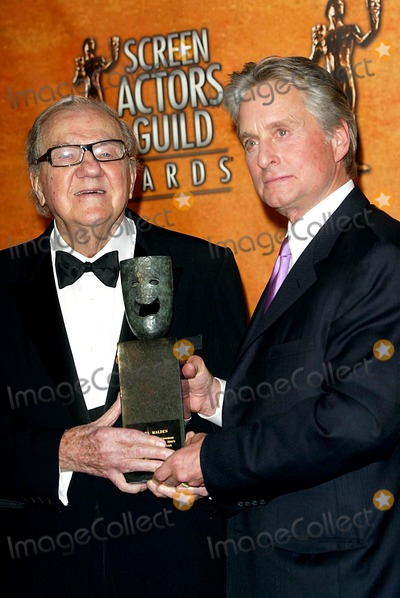 Karl Malden Photo - Karl Malden Michael Douglas Screen Actors Guild Awards Shrine Auditorium Los Angeles USA Feb 22 Photo by Alec Michael Michael  Globe Photos Inc 2004