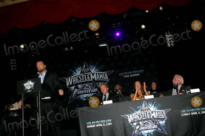 Ric Flair Photo - Wwe Announces the 25th Anniversary of Wrestlemania at the Hard Rock Cafe NYC 03-31-2009 Photo by Rick Mackler-rangefinder-Globe Photos Inc 2009 Triple H Chris Jericho Wwe Diva Eve Ric Flair