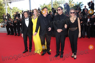 Lawrence Bender Photo - Actors Kelly Preston (r-l) John Travolta Uma Thurman Director Quentin Tarantino and Producer Lawrence Bender Attend the Premiere of Sils Maria During the 67th Cannes International Film Festival at Palais Des Festivals in Cannes France on 23 May 2014 Photo Alec Michael
