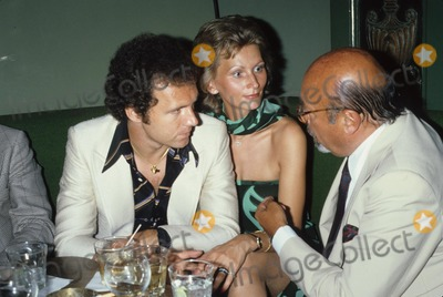 Ahmet Ertegun Photo - Franz Beckenbauer with Girlfriend  Ahmet Ertegun and Howard Stein G7468d Photo by Michael a Norcia-Globe Photos Inc