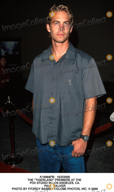 Paul Walker Photo -  1032000 the Tigerland Premiere at the Fox Studio in Los Angeles CA Paul Walker Photo by Fitzroy BarrettGlobe Photos Inc