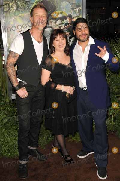 James Hetfield Photo - James Hetfieldcharlotte Huggins Robert Trujillo attending the Los Angeles Premiere of Journey 2 the Mysterious Island Held at the Graumans Chinese Theatre in Hollywood California on 2212 Photo by D Long- Globe Photos Inc