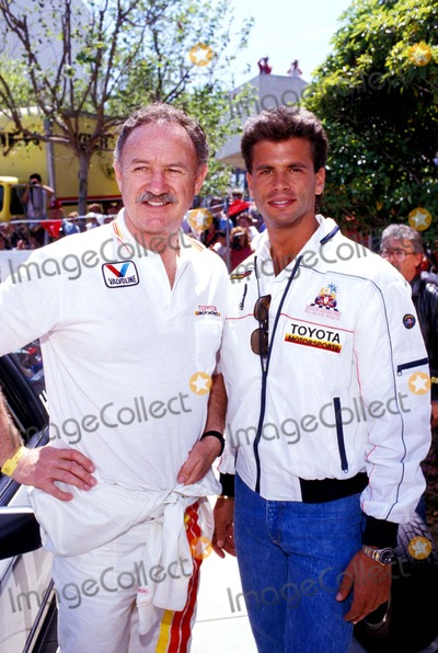 Lorenzo Lamas Photo - Gene Hackman and Lorenzo Lamas Photo Ralph Domiguez - Globe Photos Inc 1987 Genehackmanretro