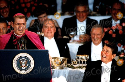 Al Smith Photo - Archbishop Oconnr and President Ronald Reagan at the AL Smith Dinner in New York City 1984 Cpf BentleyipolGlobe Photos Inc Ronaldreaganretro