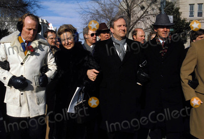 Jerry Falwell Photo - Jerry Falwell with Phyllis Schafly at an Anti-abortion Rally 01-1985 Washington DC Photo by James Colburn-ipol-Globe Photos
