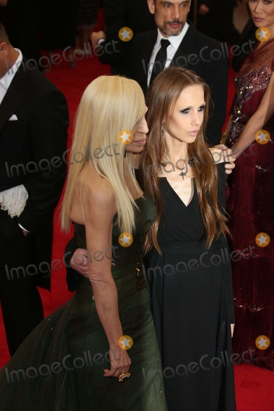 Allegra Beck Photo - Donatella Versace (l)and Allegra Beck Versace Attend the Charles James Beyond Fashion Costume Institute Gala at Metropolitan Museum of Art in New York USA on 05 May 2014 Photo Alec Michael Photo by Alec Michaeln-Globe Photosinc