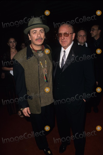 Clive Davis Photo - Carlos Santana with Clive Davis Arista Pregrammy Party at Beverly Hills Hotel in Ca 2000 K18036fb Photo by Fitzroy Barrett-Globe Photos Inc
