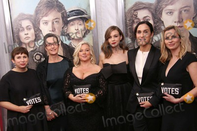 Alison Owen Photo - Abi Morgan Dr Helen Pankhurst Alison Owen Carey Mulligan  Sarah Gavron and Faye Ward Attend the New York Premiere of Focus Features Suffragette the Paris Theater NYC October 12 2015 Photos by Sonia Moskowitz Globe Photos Inc