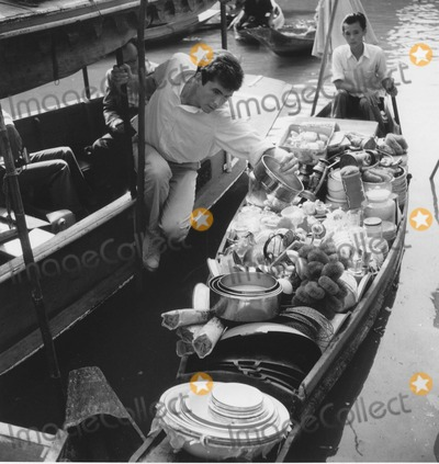 Anthony Perkins Photo - Anthony Perkins on the Klongs in Thailand This Angry Age Photo Frank Maynard WolfeGlobe Photos