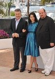 Photo - Alec Baldwin  wife Hilaria Thomas  director James Toback at photocall for their movie Seduced and Abandoned at the 66th Festival de CannesMay 21 2013  Cannes FrancePicture Paul Smith  Featureflash