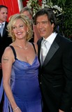 Anotnio Banderas Photo - 56th Annual Primetime Emmy Awards Arrivals at the Shrine Auditorium in Los Angeles California 09192004 Photo by Ed GelleregiGlobe Photos Inc2004 Melanie Griffith and Anotnio Banderas