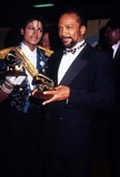 Michael Jackson,Quincy Jones,Michael Jones,Grammy Awards Photos - Michael Jackson and Quincy Jones Grammy Awards 02-1984 Photo by Phil Roach-ipol-Globe Photos