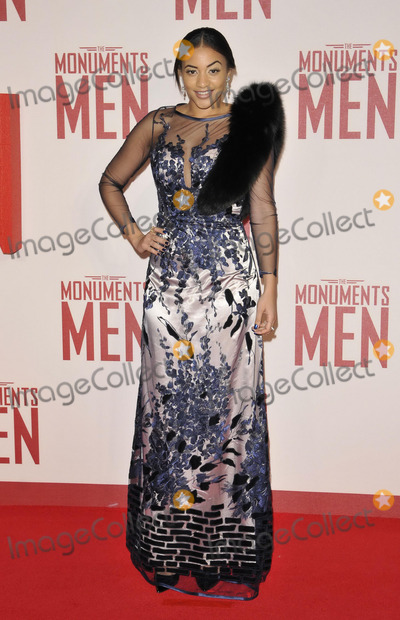 Amal Fashanu Photo - LONDON ENGLAND - FEBRUARY 11 Amal Fashanu attends the The Monuments Men UK film premiere Odeon Leicester Square cinema February 11 2014 in London England UKCAPCANCan NguyenCapital Picturesface to face- Germany Austria Switzerland and USA rights only -