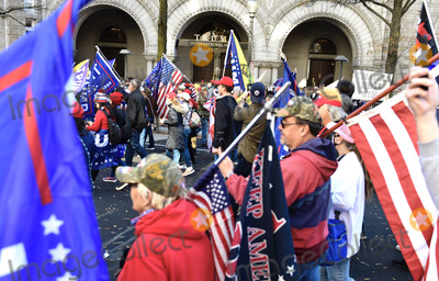 Supremes Photo - People march from Freedom Plaza passing the Trump International Hotel on Pennsylvania Avenue Northwest en route to the US Supreme Cour in Washington DC on Saturday November 14 2020Credit Rod Lamkey  CNPAdMedia