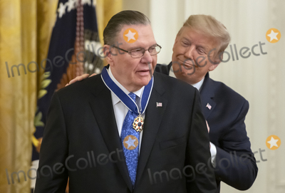 Keane Photo - United States President Donald J Trump right presents the Presidential Medal of Freedom to US Army General John M Jack Keane (retired) left during a ceremony in the East Room of the White House in Washington DC on Tuesday March 10 2020  Keane is a former Vice Chief of Staff of the US Army and is a Fox News national security analystCredit Ron Sachs  CNPAdMedia