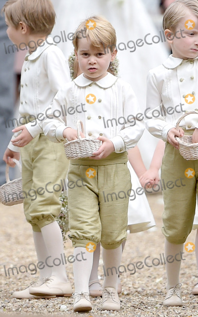 Prince George Photo - 20 May 2017 - Prince George of Cambridge at the wedding of James Matthews and Pippa Middleton at St Marks Church Englefield Berkshire UK Photo Credit ALPRAdMedia