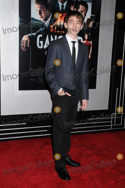 Austin Abrams Photo - 7 January 2013 - Hollywood California - Austin Abrams Gangster Squad Los Angeles Premiere held at Graumans Chinese Theatre Photo Credit Byron PurvisAdMedia
