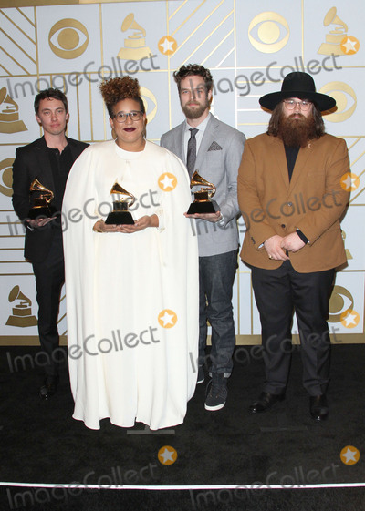 Alabama Shakes Photo - 15 February 2016 - Los Angeles California - Heath Fogg Brittany Howard Steve Johnson and Zac Cockrell of Alabama Shakes winners of Best Alternative Music Album for Sound  Color and Best Rock Performance and Best Rock Song for Dont Wanna Fight 58th Annual GRAMMY Awards held at the Staples Center Photo Credit AdMedia