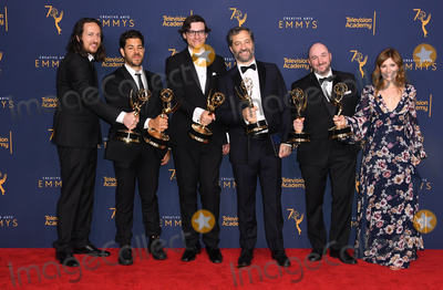 Garry Shandling Photo - 09 September 2018 - Los Angeles California - Judd Apatow Producers of The Zen Diaries of Garry Shandling 2018 Creative Arts Emmy Awards - Press Room held at Microsoft Theater Photo Credit Birdie ThompsonAdMedia