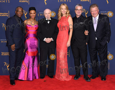 Jery Ryan Photo - 08 September 2018 - Los Angeles California - LeVar Burton Sonequa Martin-Green Walter Koenig Jeri Ryan Alex Kurtzman Alex Kurtzman 2018 Creative Arts Emmys Awards - Press Room held at Microsoft Theater Photo Credit Birdie ThompsonAdMedia