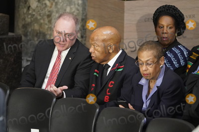 Elijah Cummings Photo - United States House Minority Whip Steve Scalise (Republican of Louisiana) talks with US Representative John Lewis (Democrat of Georgia) as they gather with Delegate Eleanor Holmes Norton (Democrat of the District of Columbia) and US Representative Sheila Jackson Lee (Democrat of Texas) prior to a ceremony in honor of US Representative Elijah Cummings (Democrat of Maryland) who died on October 17 and who will lie in state in Statuary Hall at the US Capitol in Washington DC US October 24 2019 Credit Joshua Roberts  Pool via CNPAdMedia
