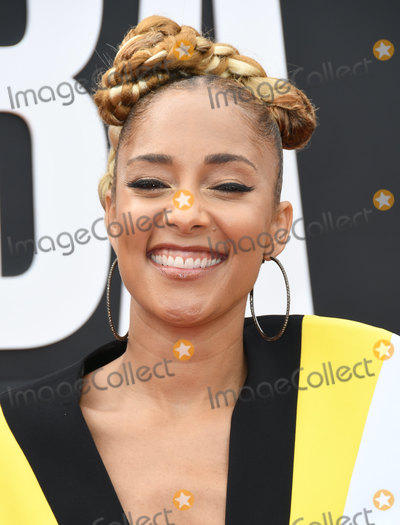 Amanda Seales Photo - 24 June 2019 - Santa Monica California - Amanda Seales 2019 NBA Awards held at the Barker Hangar Photo Credit Birdie ThompsonAdMedia