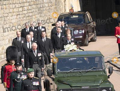 Prince Edward Photo - Photo Must Be Credited Alpha Press 073074 17042021Princess Anne Princess Royal Prince Charles Prince of Wales Prince Andrew Duke of York Prince Edward Earl of Wessex Prince William Duke of Cambridge Peter Phillips Prince Harry Duke of Sussex Earl of Snowdon Viscount Lord David Linley David Armstrong-Jones and Vice-Admiral Sir Timothy Laurence follow Prince Philip Duke of Edinburghs coffin on a modified Jaguar Land Rover during the Ceremonial Procession during the funeral of Prince Philip Duke of Edinburgh at St Georges Chapel in Windsor Castle in Windsor Berkshire No UK Rights Until 28 Days from Picture Shot Date AdMedia