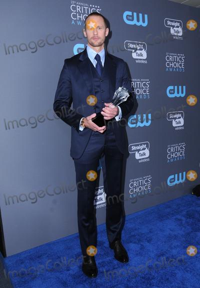 Aleaxnder Skarsgard Photo - 11 January 2018 - Santa Monica California - Aleaxnder Skarsgard 23rd Annual Critics Choice Awards held at Barker Hangar Photo Credit Birdie ThompsonAdMedia