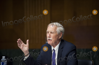 Angus King Photo - United States Senator Angus King Jr (Independent of Maine) Co-Chair Cyberspace Solarium Commission appears before a Senate Committee on Armed Services hearing to examine the findings and recommendations of the Cyberspace Solarium Commission in the Dirksen Senate Office Building on Capitol Hill in Washington DC Tuesday August 4 2020 Credit Rod Lamkey  CNPAdMedia