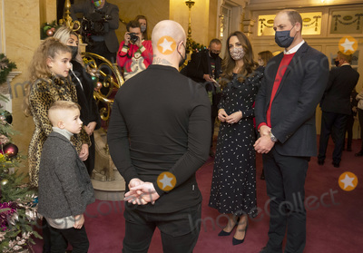 Prince William Photo - Photo Must Be Credited Alpha Press 073074 11122020Prince William Duke of Cambridge and Kate Duchess of Cambridge Catherine Katherine Middleton talks to Dom Warren and family Dom is the founder of Doms Food Mission as they attend a special pantomime performance at Londons Palladium Theatre hosted by The National Lottery to thank key workers and their families for their efforts throughout the pandemic No UK Rights Until 28 Days from Picture Shot Date
