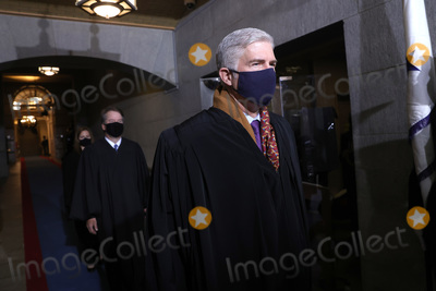 Supremes Photo - WASHINGTON DC - JANUARY 20 US Supreme Court Associate Justice Neil M Gorsuch arrives at the inauguration of US President-elect Joe Biden on the West Front of the US Capitol on January 20 2021 in Washington DC  During todays inauguration ceremony Joe Biden becomes the 46th president of the United States (Photo by Win McNameeGetty Images)AdMedia