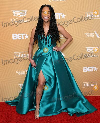 Tanisha Long Photo - 23 February 2020 - Beverly Hills California - Tanisha Long American Black Film Festival Honors Awards Ceremony held at the Beverly Hilton Hotel Photo Credit Birdie ThompsonAdMedia